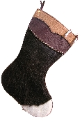 Cowhide Christmas Stocking